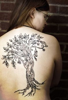 The Woman and the Tree  ~dryad in b/g~  Would love this IN COLOR!!!!!!!