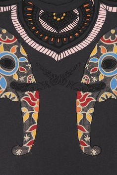 Title Unknown Henna Elephants Muscle Tee