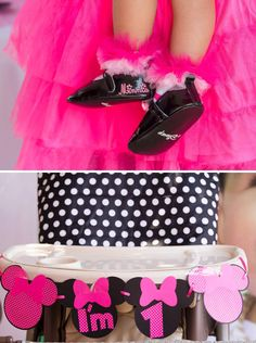Polka Dot & Pink Minnie Mouse First Birthday Party // Hostess with the Mostess®