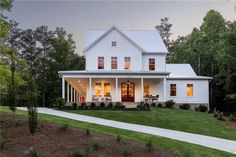 Architecture - Brightwater Homes Modern Farmhouse Plans, Farmhouse Design, Country Farmhouse, Farmhouse House Plans, White Farmhouse Exterior, Farmhouse Rules, Urban Farmhouse, Coastal Farmhouse, Dream House Exterior