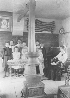 https://flic.kr/p/d71Tsh | Country school interior | Communities formed on the Dakota Prairie. Schools educated the young and provided a gathering place. Country school, ca. 1890.