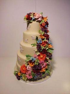 Wonderful Flower Wedding-Cake handmade by Nancy from Nancy-Cake in Lübeck, Germany