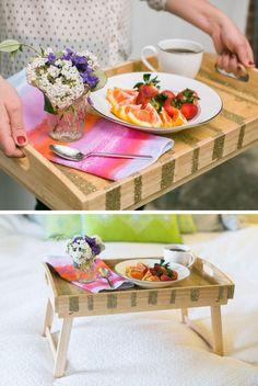 DIY Glitter Striped Breakfast Tray   HelloNatural.co