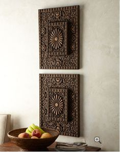 wooden wall plaques (Horchow)