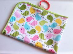Changing Mat in Laminated Chick Print by LilTotWonder on Etsy, $22.50