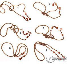 Bead Crochet Lariats: DIY for Weaving various knots Spiral Crochet, Bead Crochet Rope, Beading Projects, Beading Tutorials, Beaded Jewelry, Handmade Jewelry, Jewellery, Diy Necklace Bracelet, Necklaces