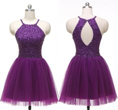 Prom Dresses For Teens, Homecoming Dress,Short Homecoming Dress,Tulle Homecoming Dresses Short prom dresses and high-low prom dresses are a flirty and fun prom dress option. Dresses Short, Dresses For Teens, Trendy Dresses, Cheap Dresses, Cute Dresses, Formal Dresses, Dresses 2016, Dresses Dresses, Purple Party Dress