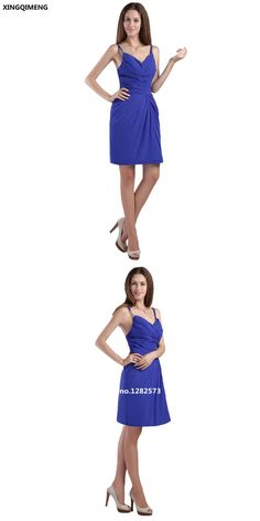 012a0e62cd0 Royal Blue Cocktail Dresses Elegant Cheap Simple Cocktail Dress Short  Chiffon Sexy Backless Formal Party Dress