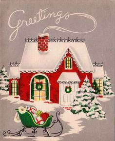 Vintage 1950s Christmas Greetings