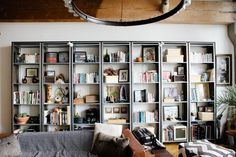 awesome bookshelves + storage —Vivian & Leonard's Converted Loft in Oakland | Apartment Therapy