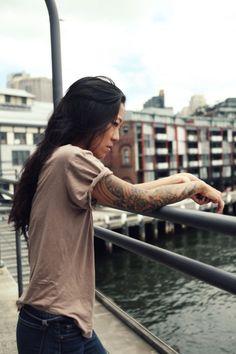 Chicks with Sleeves #SocialblissStyle #Tatts #Badass