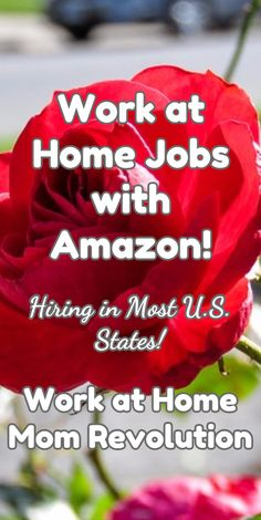Work at Home Jobs with Amazon!  / Hiring in Most U.S. States! / Work at Home Mom Revolution