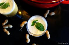 Butternut-Kürbis-Erdnuss Suppe mit Vanille-Minz-Schaum <3