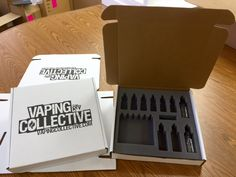 Vape packaging. Custom foam box inserts for safely shipping glass.