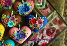 This artist makes clay beads inspired by Mexican embroidery. Jennifer Morris Beads