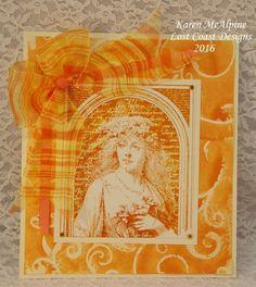 Lost Coast Designs stamps on card by Karen McAlpine