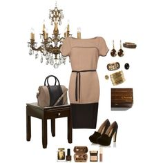 """""""Brown Dressy Outfit by Teri Haynes"""" by teri-haynes on Polyvore"""