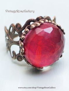 Ruby doublet Boho Ring Ruby Red Gemstone Ring , Christmas Ring , Ruby Red Boho Chic Ring by VintageRoseGallery Red Jewelry, Boho Jewelry, Handmade Jewelry, Etsy Jewelry, Handmade Items, Surf Necklace, Boho Necklace, Christmas Ring, Red Gemstones