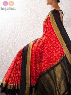 Red Silk Pochampally Saree