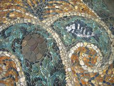 Pebble Mosaic at the Trout River Plaza in Jacksonville Zoo, Florida