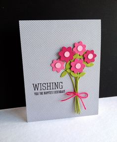 Paint Chips...Die Cut and Stamped Flowers