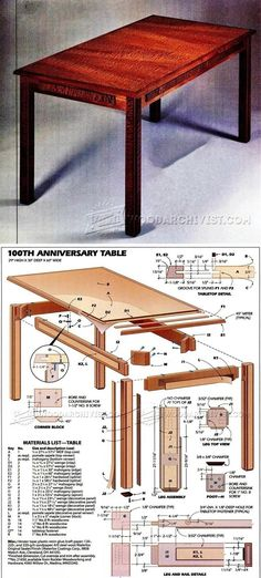 Mahogany Table Plans - Furniture Plans and Projects | WoodArchivist.com