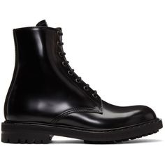 Alexander McQueen Black Combat Boots ($1,110) ❤ liked on Polyvore featuring men's fashion, men's shoes, men's boots, black, alexander mcqueen mens shoes, mens round toe cowboy boots, mens lace up boots, mens black boots and alexander mcqueen mens boots