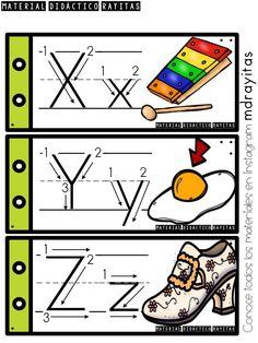 desny echeverria's media statistics and analytics Alphabet Writing Practice, Alphabet Tracing, Teaching The Alphabet, Alphabet Activities, Preschool Kindergarten, Preschool Worksheets, Preschool Activities, Bilingual Education, Baby Education