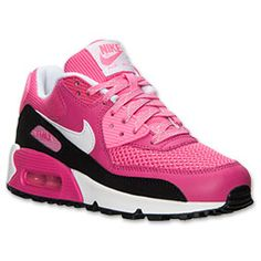finest selection 64928 5a10e ... GS Light Pink White Shoes For Cheap Sale. The Girls u0026 39  Grade  School Nike Air Max 90 LE Running Shoes