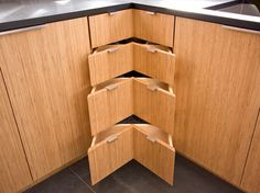 verticle natural bamboo kitchen cabinet - Google Search