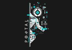Portal 2 - First Person Puzzle Platform Video Game Poster Portal 2, Portal Valve, Portal Logo, Skyrim, Portal Wallpaper, Wallpaper Ideas, Art Hipster, Valve Games, Aperture Science