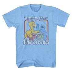 Sesame Street Learned On The Streets Muppets Men's Graphic T-Shirt