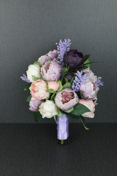 A Purple Peony Wedding Bouquet