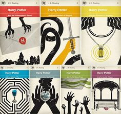Really sharp Harry Potter book cover concepts byM. S. Corley. (via sub-studio)