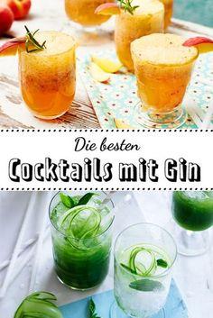 #Gin steht im Moment hoch im Kurs. Die besten #Cocktails , fruchtig oder mit Gurke, findest du hier!