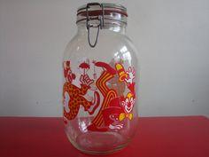 Vintage Carlton Glass Large Clown Canister Jar by PlayfullyVintage