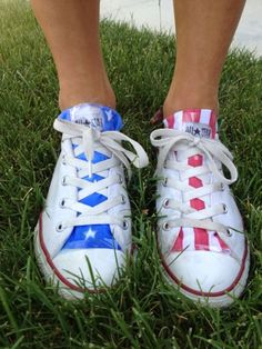 "quick fix american flag ""tongue inserts"" for converse   #makeitwithmal: ALL THINGS RED, WHITE, and BLUE"