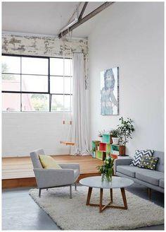 light couch + light carpet - Modern Findings