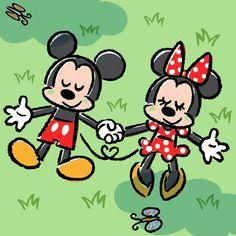 Mickey & Minnie Mickey And Minnie Love, Mickey Mouse And Friends, Mickey Minnie Mouse, Mickey Mouse Wallpaper Iphone, Disney Wallpaper, Disney Magic, Disney Art, Gifs Snoopy, Maus Illustration