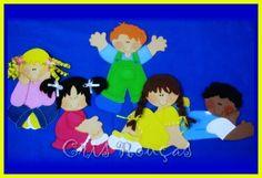 *Arte Colorida* Artesanato em EVA e Feltro: Painel Dia das Crianças
