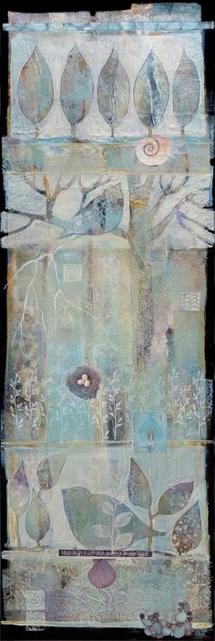 12x36 acrylic,mixed media by Sue Davis ,Fort Wayne, Indiana.