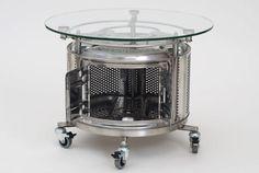 Washing machine drum coffee table