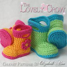 padrão de botas de crochê