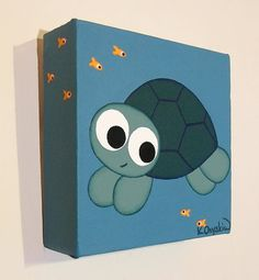 Little Turtle acrylic painting