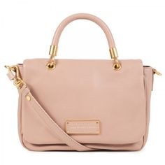 Too Hot To Handle small leather tote_NUDE
