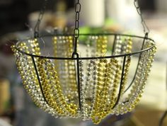 Dollar Store Crafts » Blog Archive Make a Beaded Chandelier » Dollar Store Crafts