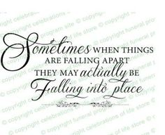 Ready made, predesigned Inspirational Quotes About Life : When Things Fall Apart Elegant Title. Inserts into any document! by Lailah