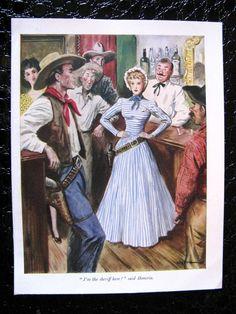 American West Vintage Illustration