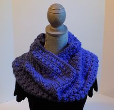 My fur baby is a 10 year-old tuxie who loves yarn as much as I do. His favorite is alpaca. It's one of mine too. This cowl is stitched in bulky weight alpaca with a K hook. It's perfect for a beginner who wants to expand his/her repertoire of stitches.