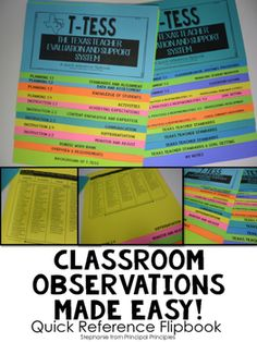 T-TESS is a Texas Teacher Evaluation and Support System.  This product is Texas specific.  Please do not purchase if you are not from Texas.The T-TESS flipbook makes the rubric a quick reference guide.   Each page includes the domain, dimensions, and specific descriptors.Also included- The Texas Teacher Standards, Rubric Word Bank, Background of T-TESS, Notes pages, and a little bit of information about goal setting.This is a district/campus license purchase.